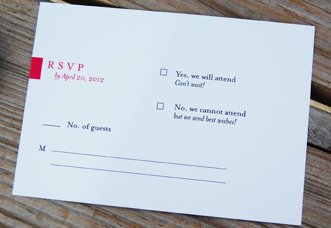 Rsvp Destination Wedding Invitation