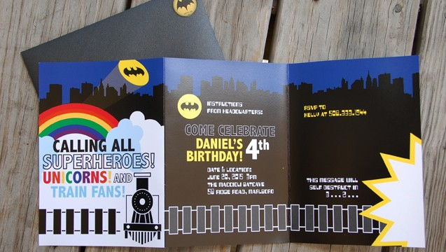Batman, Trains, Unicorns, oh my!